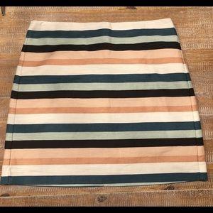 Loft Outlet lined skirt pink mint Size 12